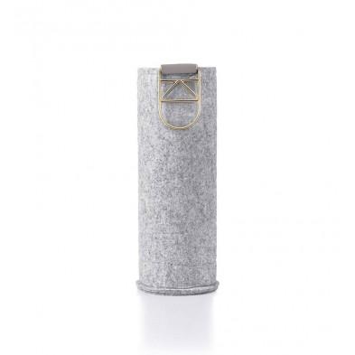 Wymienne etui Mismatch Gold do szklanych butelek o pojemności 750 ml.