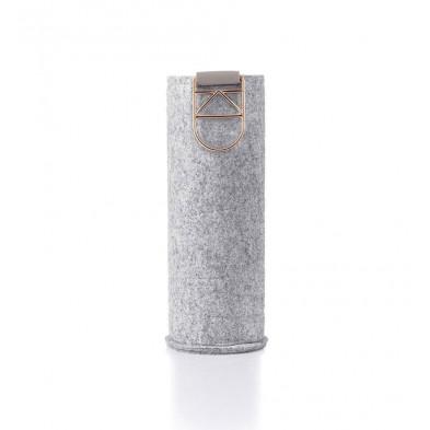 Wymienne etui Mismatch Rose Gold do szklanych butelek o pojemności 750 ml.