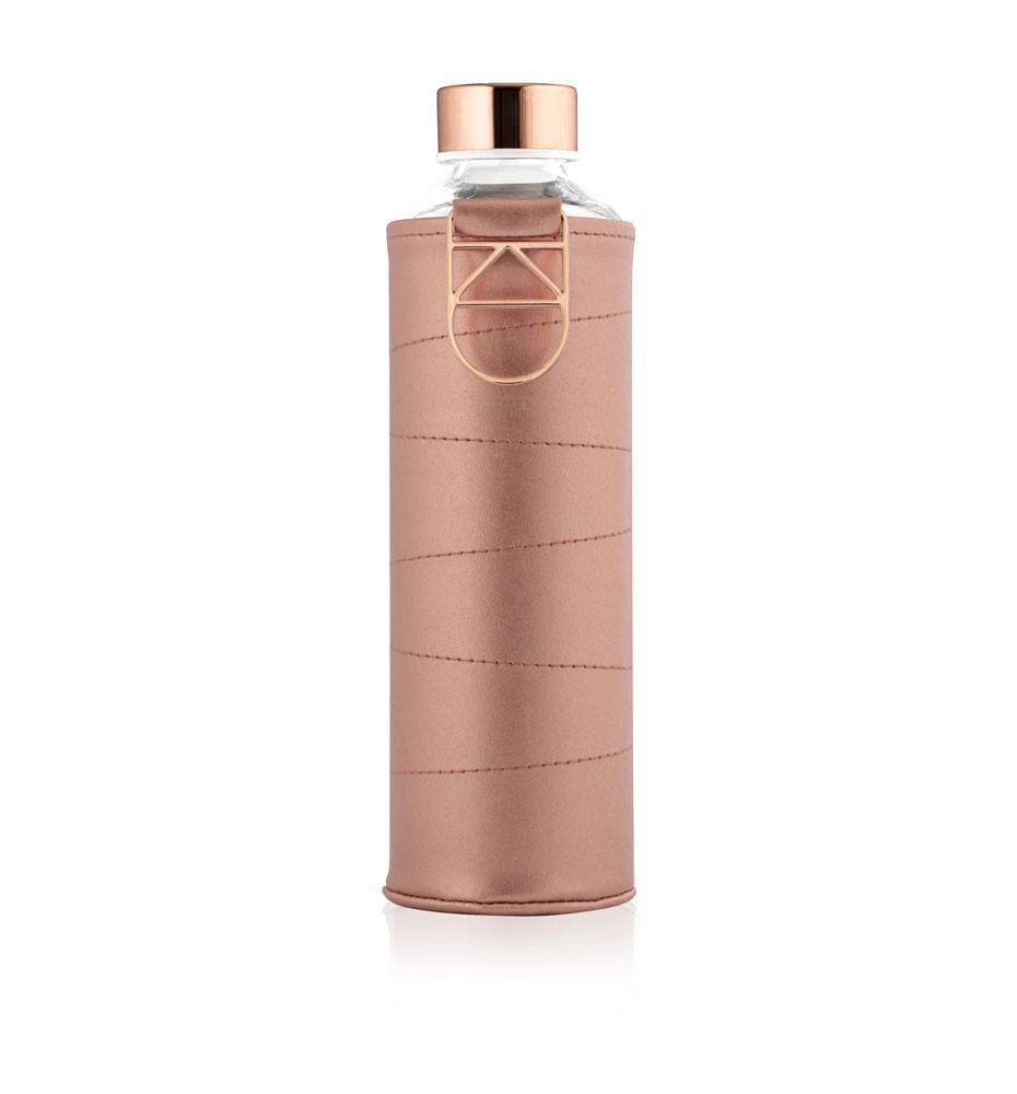 butelka na wodę w etui ze sztucznej skóry equa mismatch bronze 750 ml