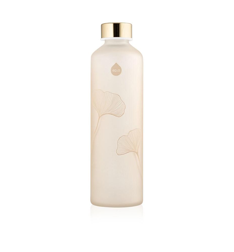 szklana butelka do wody piaskowana equa mismatch ginkgo 750 ml