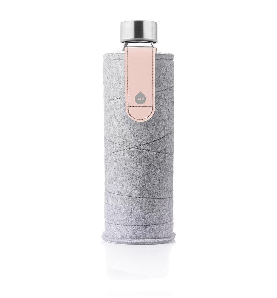 butelka na wodę w etui z popielatego filcu equa pink breeze 750 ml