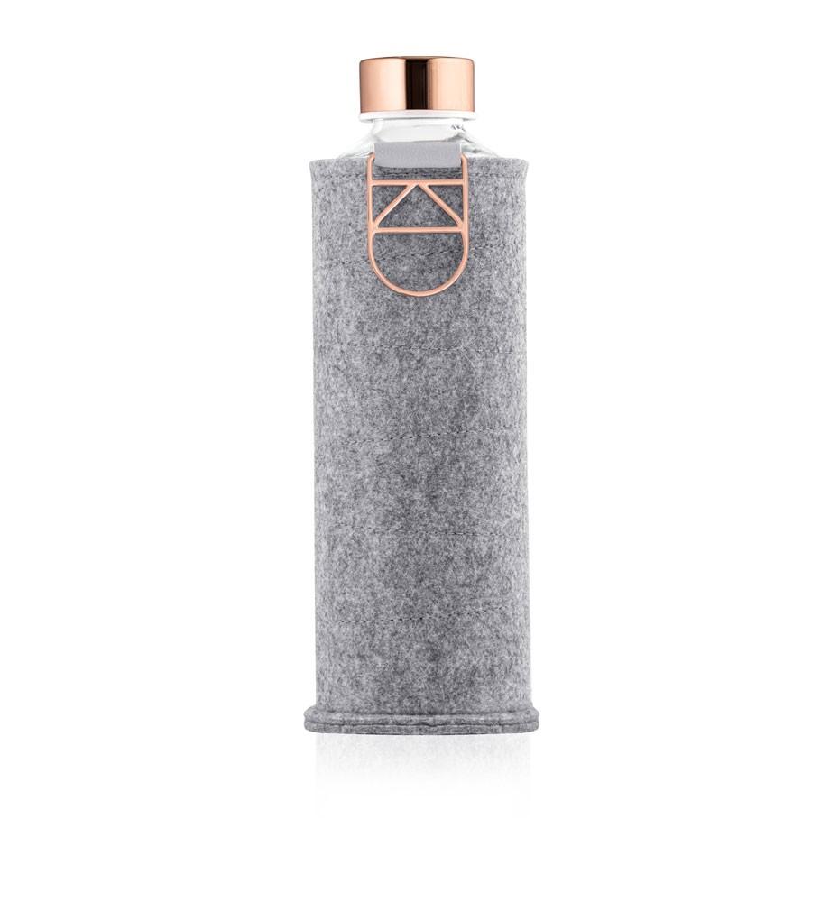 butelka na wodę w etui z popielatego filcu equa rose gold 750 ml
