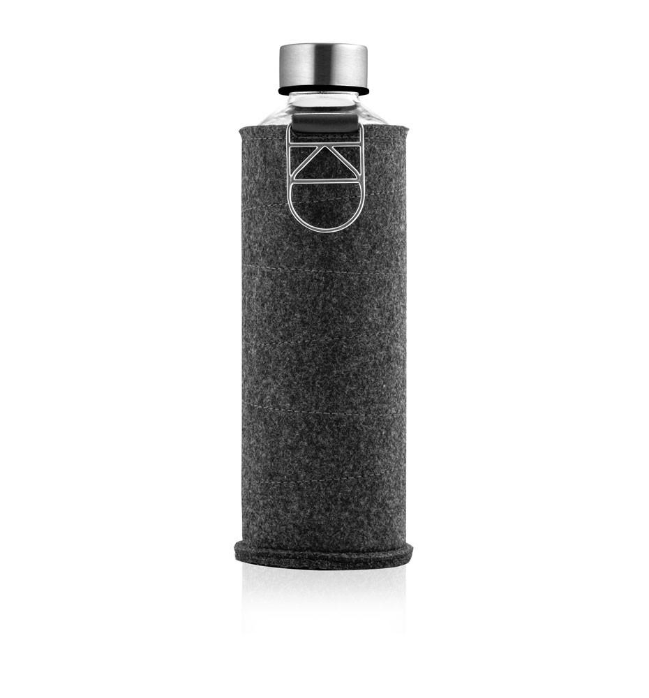 butelka na wodę w etui z grafitowego filcu equa mismatch silver 750 ml