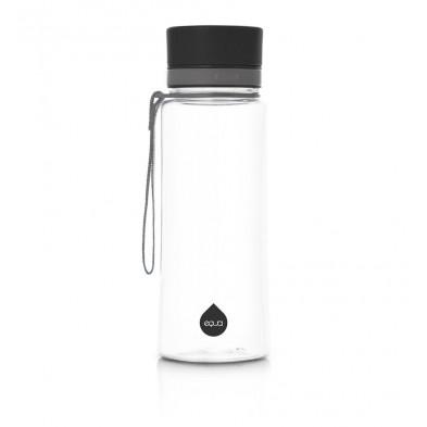euqa butelka na wodę BPA free zwykła czarna 600 ml