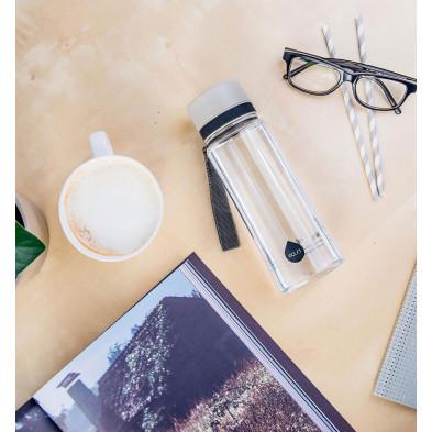 euqa butelka na wodę BPA free zwykła szara 600 ml