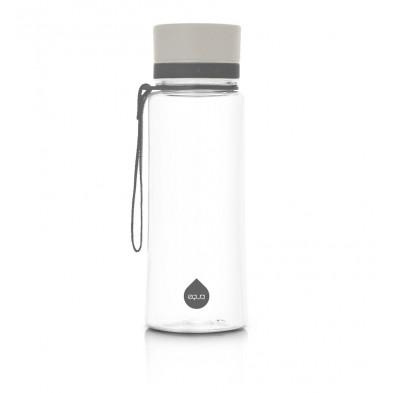euqa bidon na wodę BPA free zwykły szary 600 ml
