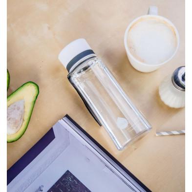euqa butelka na wodę BPA free zwykła biała 600 ml