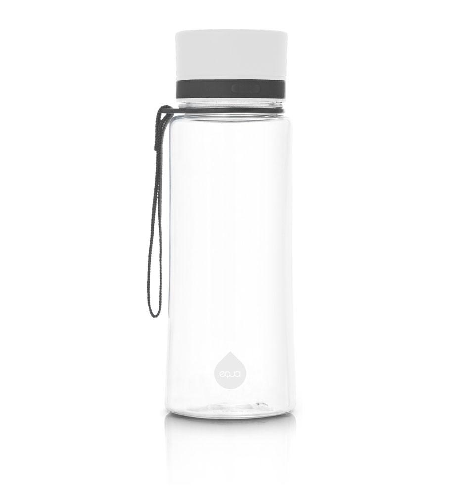 euqa bidon na wodę BPA free zwykły biały 600 ml