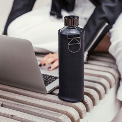 butelka do wody equa mismatch graphite w etui ze sztucznej skóry 750 ml