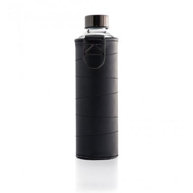 butelka na wodę w etui ze sztucznej skóry equa mismatch graphit 750 ml